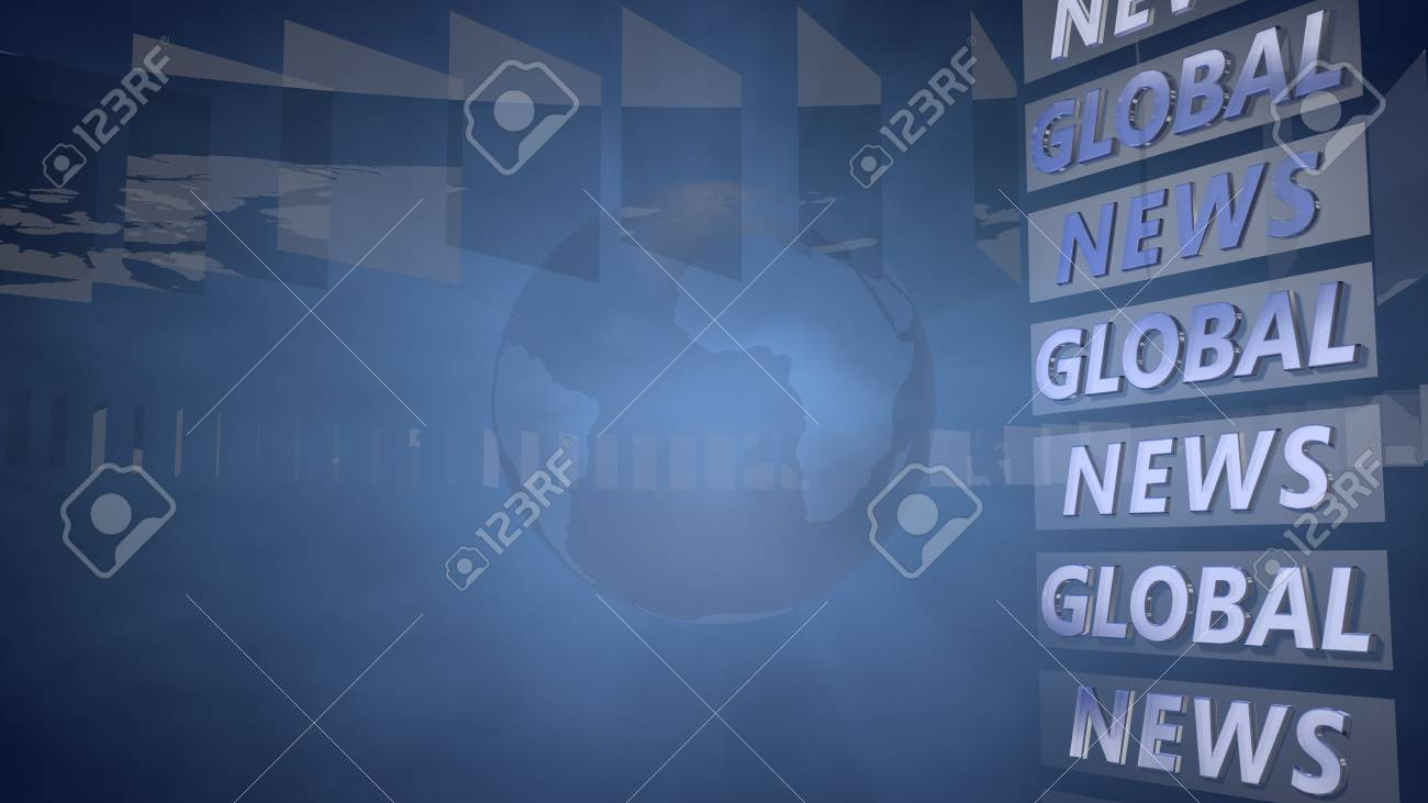 Blue Broadcast Background 3d Rendering Stock Photo Picture And 1300x731