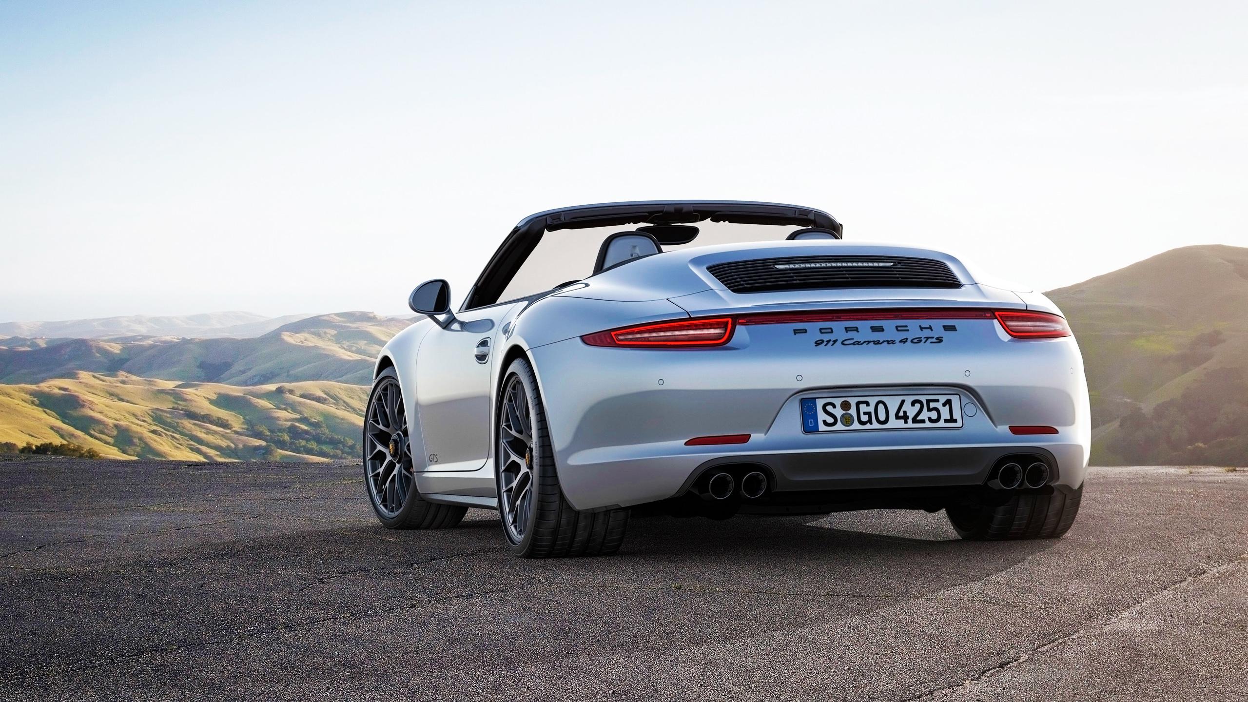 2015 Porsche 911 Carrera GTS 4 Cabriolet Car HD Wallpaper 2560x1440