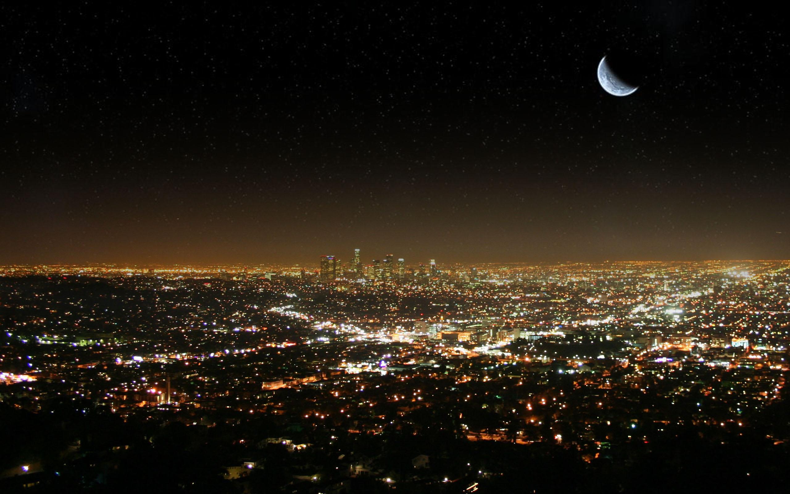 Hd wallpaper night - La Los Angeles Desktop Wallpaper Wallpapers Hd Usa America