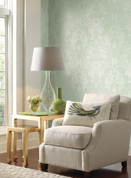 Breckenridge Textured Wallpaper design by Ronald Redding BURKE DECOR 441x600