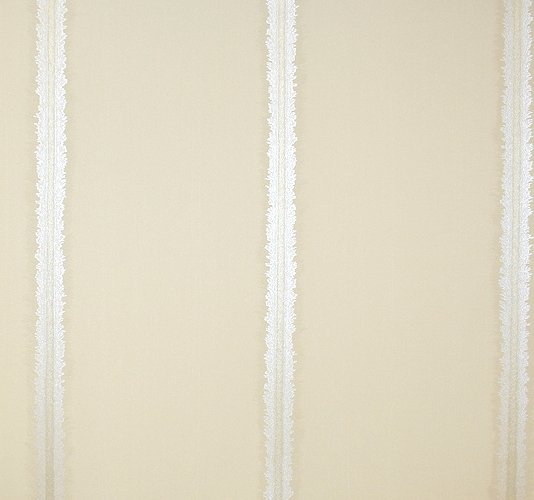 Stripe Wallpaper A cream wallpaper with a feathered stripe in silver 534x500
