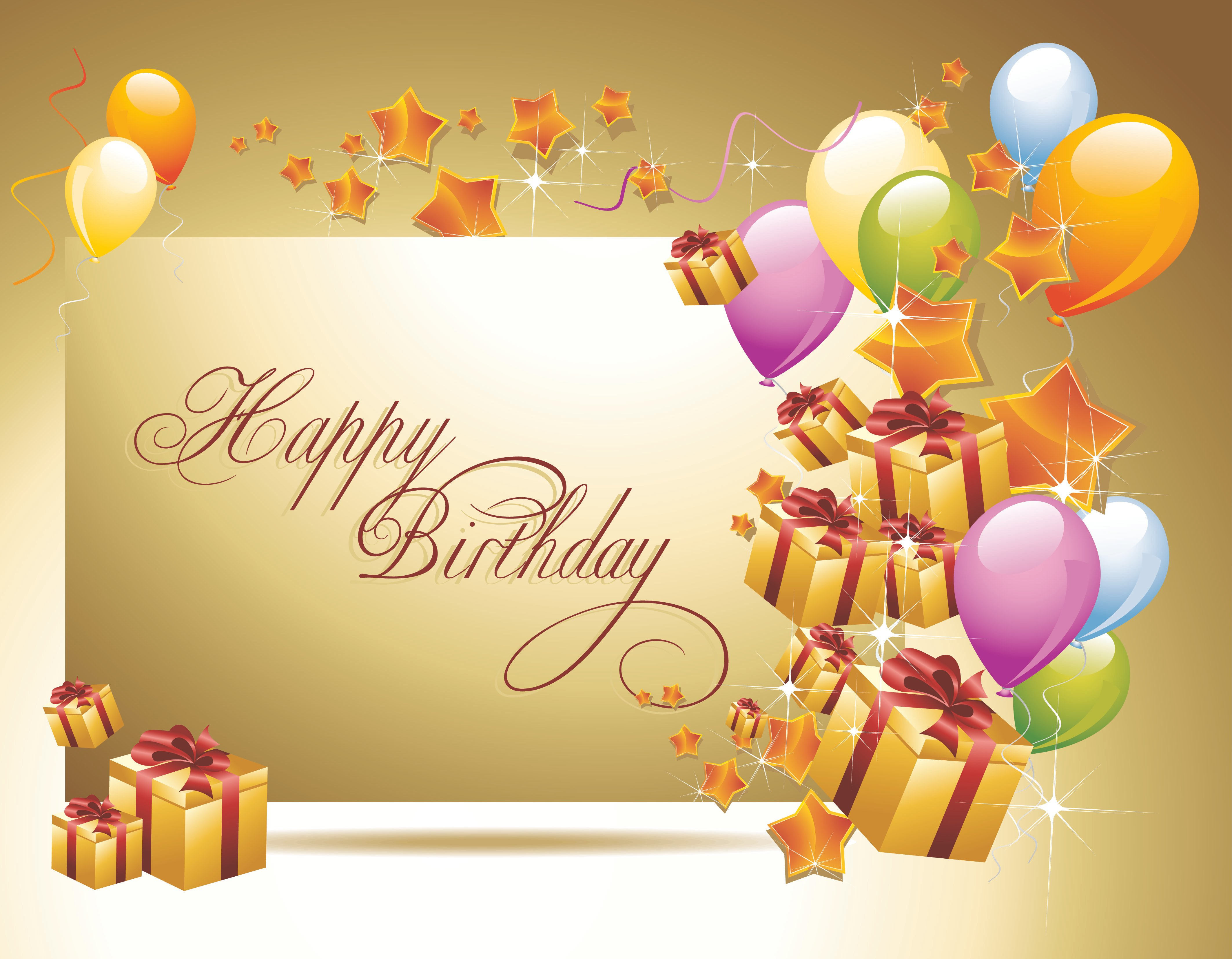 birthday golden background wallpapers and images   wallpapers 4252x3307