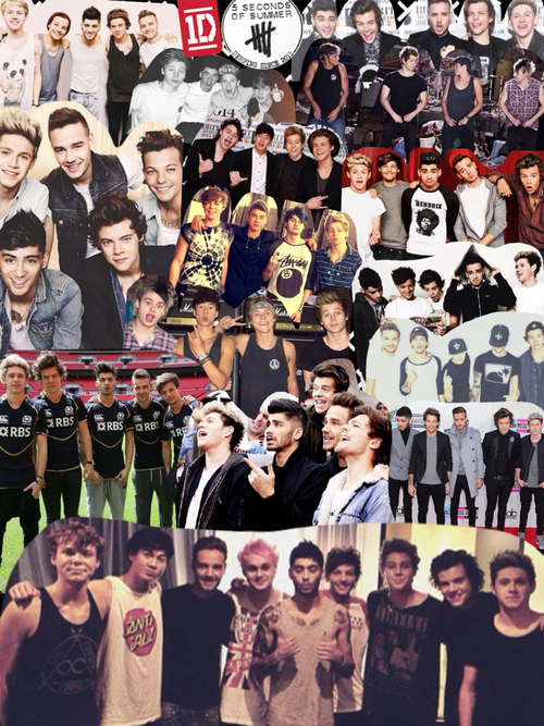 One Direction and 5SOS Collage 500x667