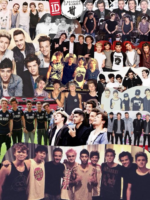 one direction and 5sos collage wallpaper wwwpixshark