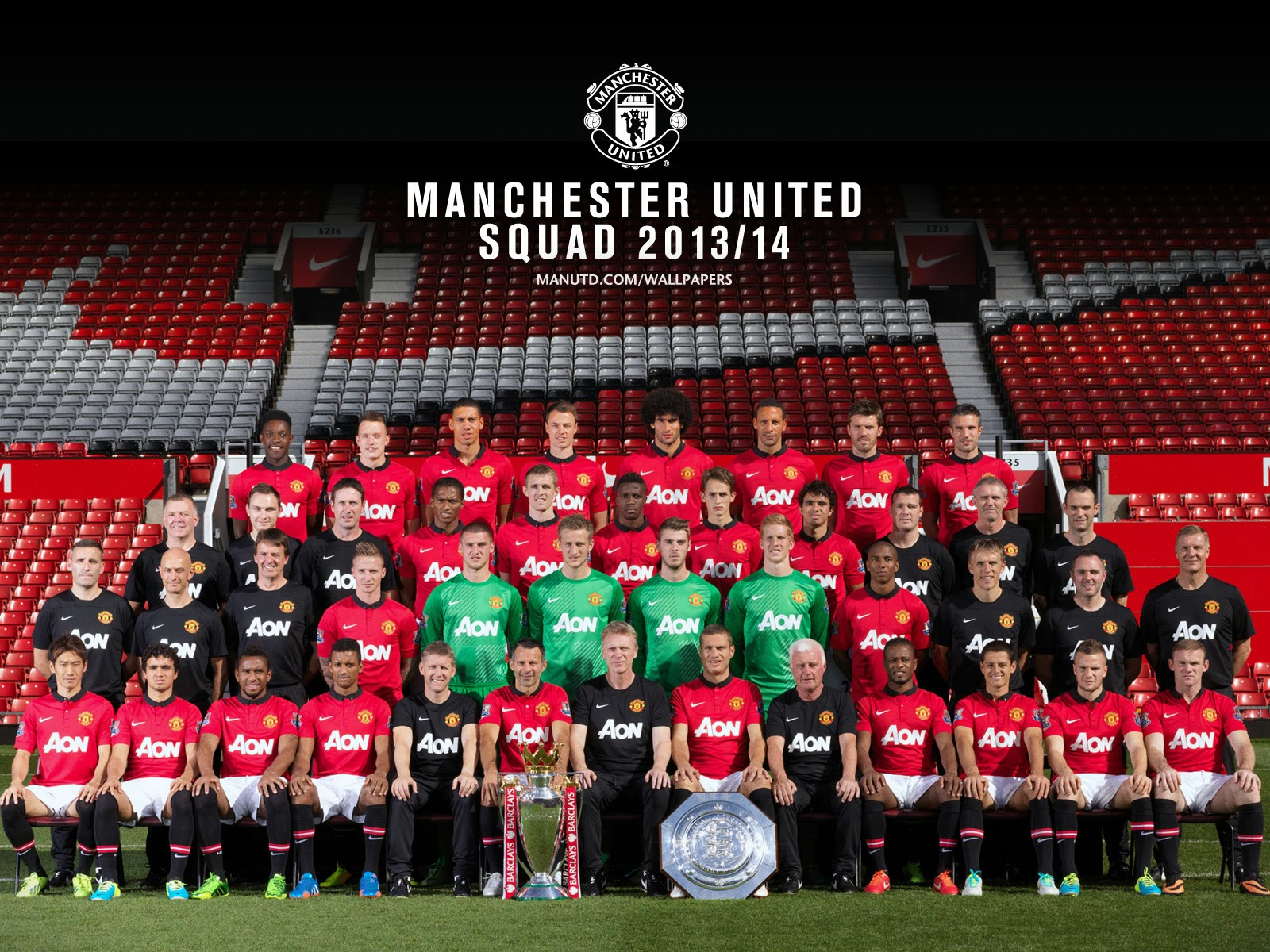 Manchester united 20132014 squad wallpaper download Manchester 1600x1200