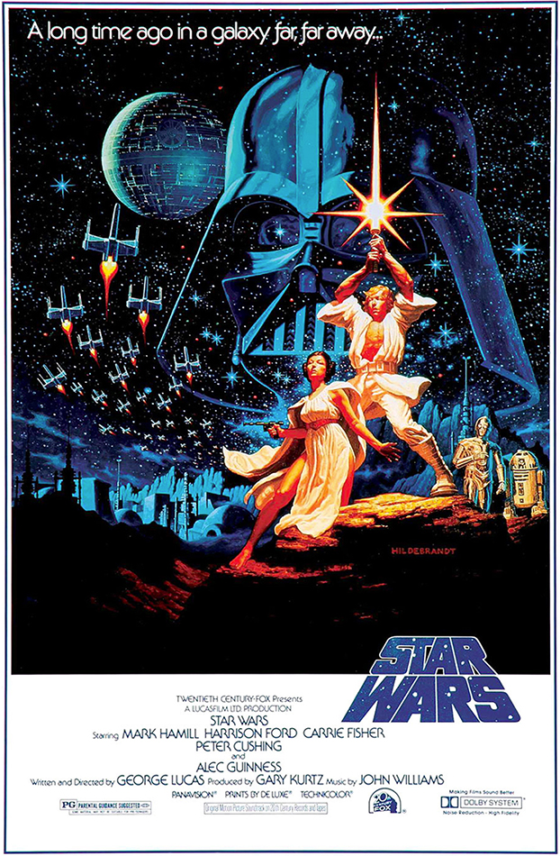 Star Wars 1977 Art of the Title 622x950
