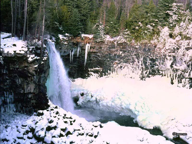 Winter Waterfall Wallpaper Winter Waterfall Desktop Background 800x600