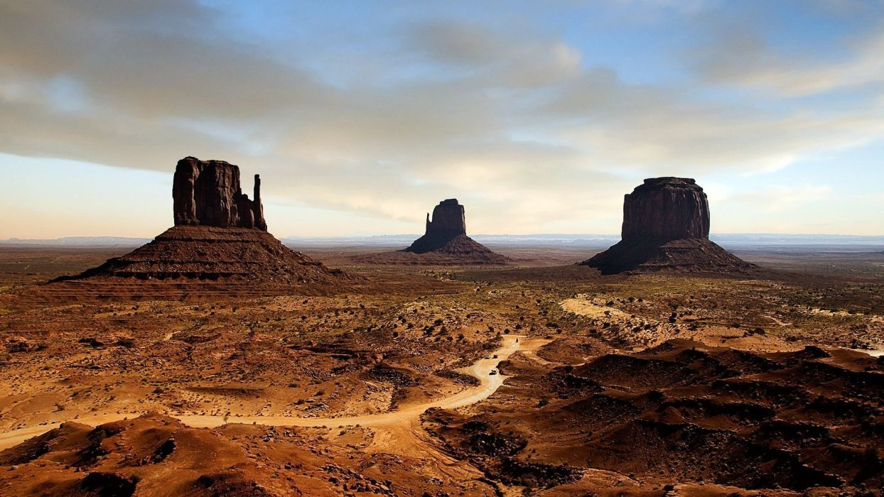 Nature USA Arizona Death Valley Monument Valley rock formations 1244x700