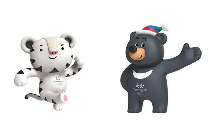 Mascots unveiled for PyeongChang 2018 Olympics 700x394