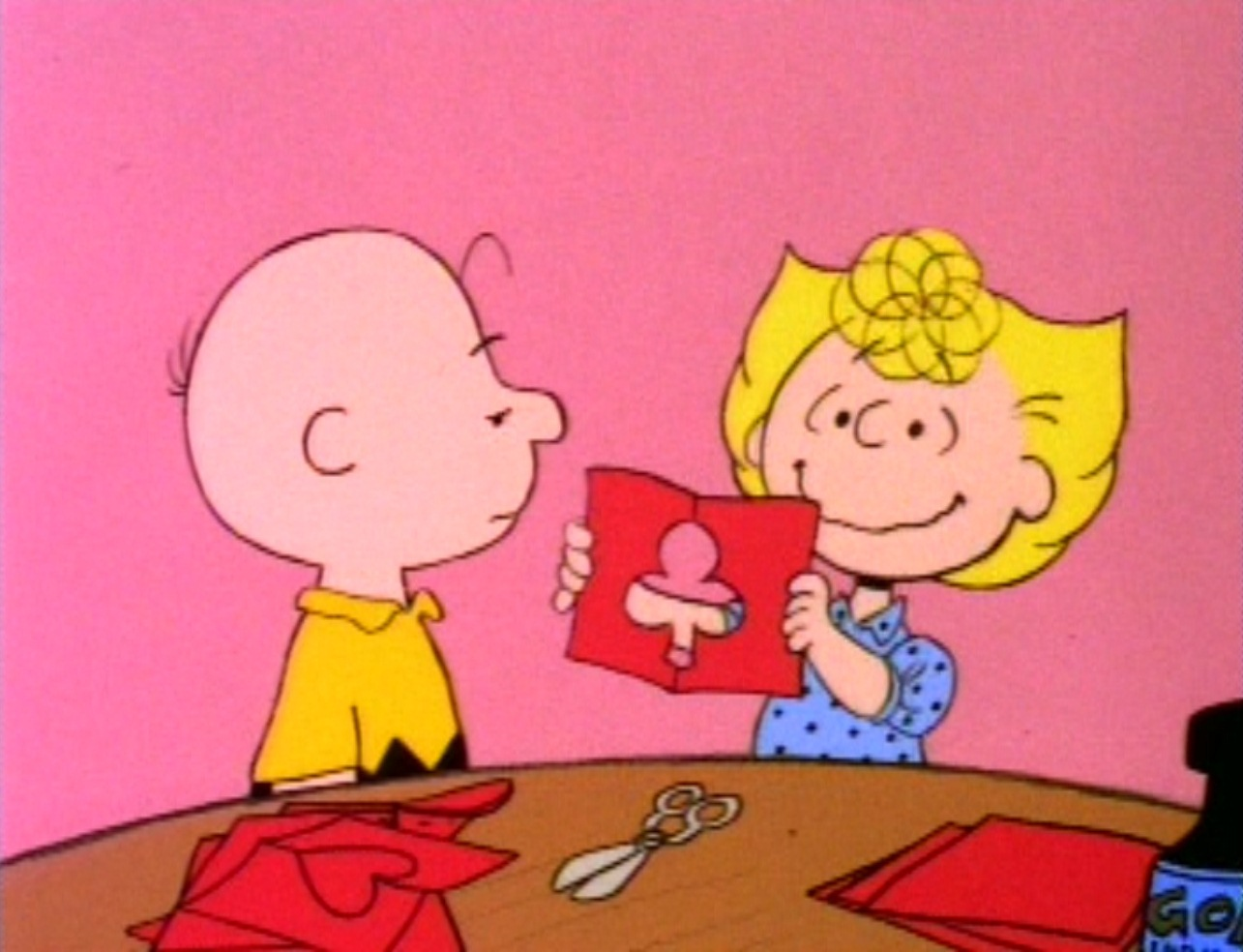 When Valentines Day Arrives Charlie Brown Brings A Brief Case To 1285x984