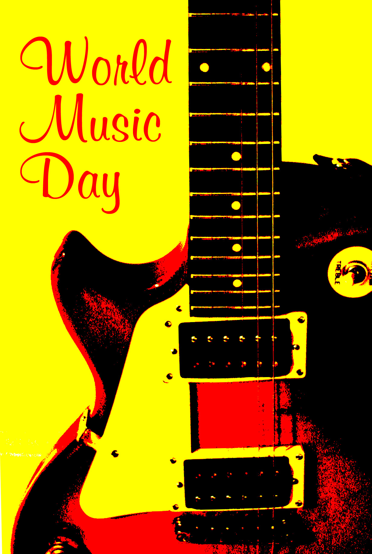 Happy World Music Day Hd Wallpaper 1231x1832