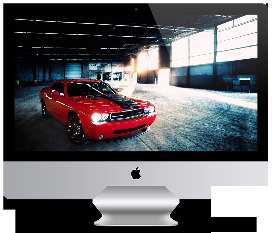 Wallpaper Red Dodge Challenger SRT by HazZbroGaminG 950x814
