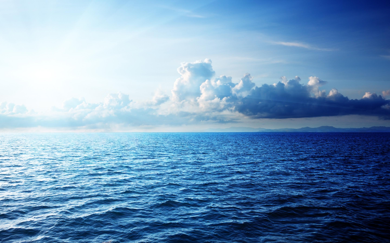 Caribbean Sea Beautiful Clouds HD Wallpaper 2880x1800
