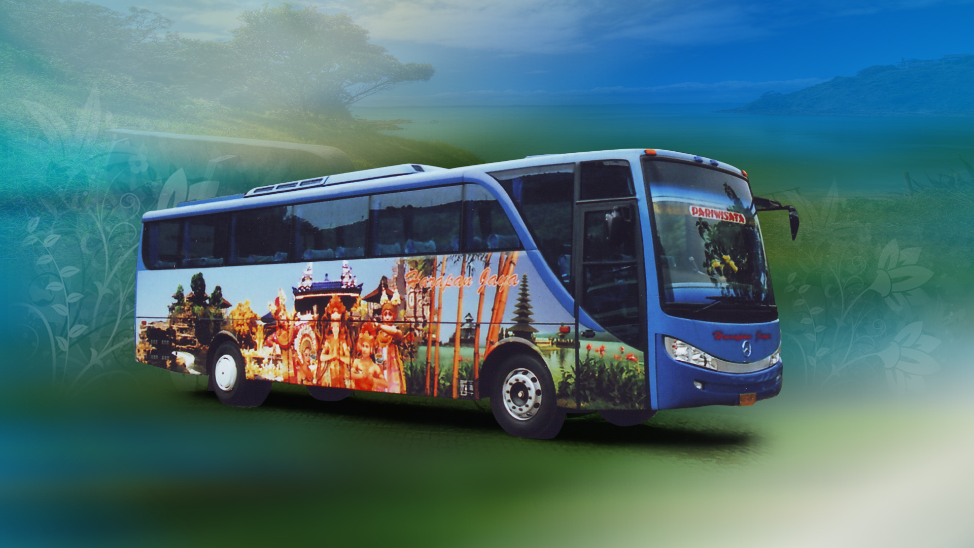 Bus Wallpaper Malam Patas Pariwisata 1920x1080