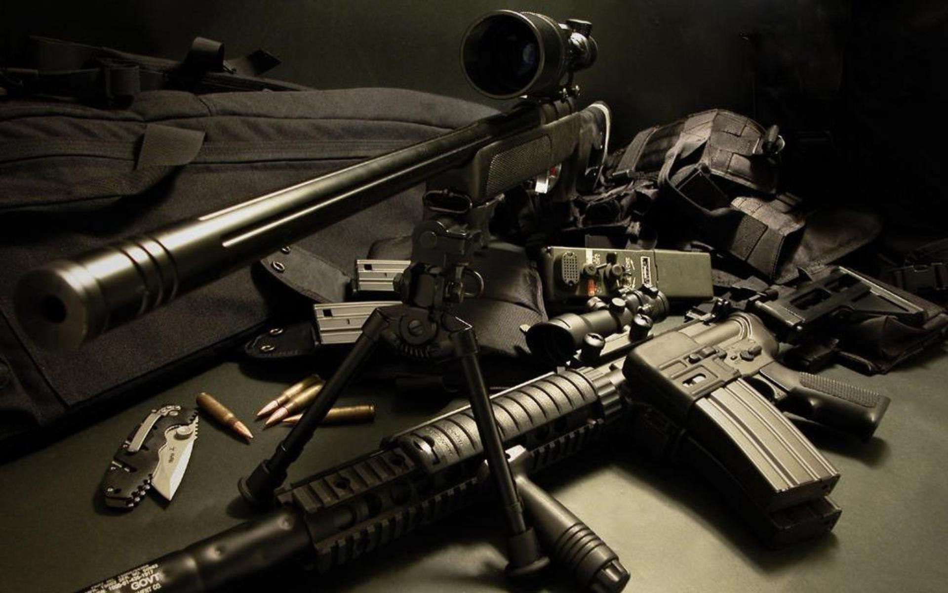 Sniper Cool Guns Wallpaper Widescreen Wallpaper WallpaperLepi 1920x1200