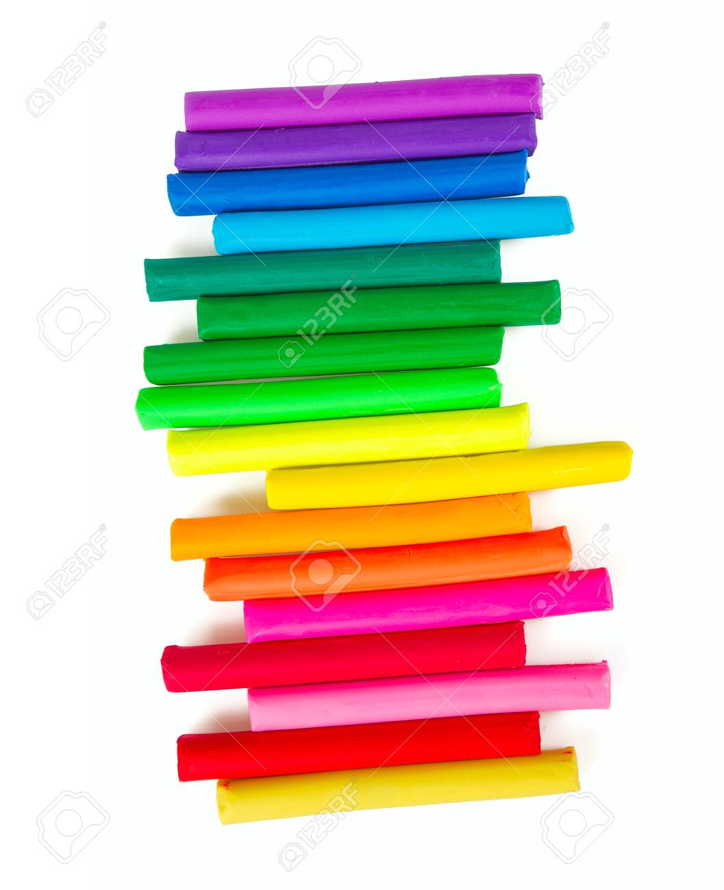 Colorful Playdough On White Background Stock Photo Picture And 1057x1300