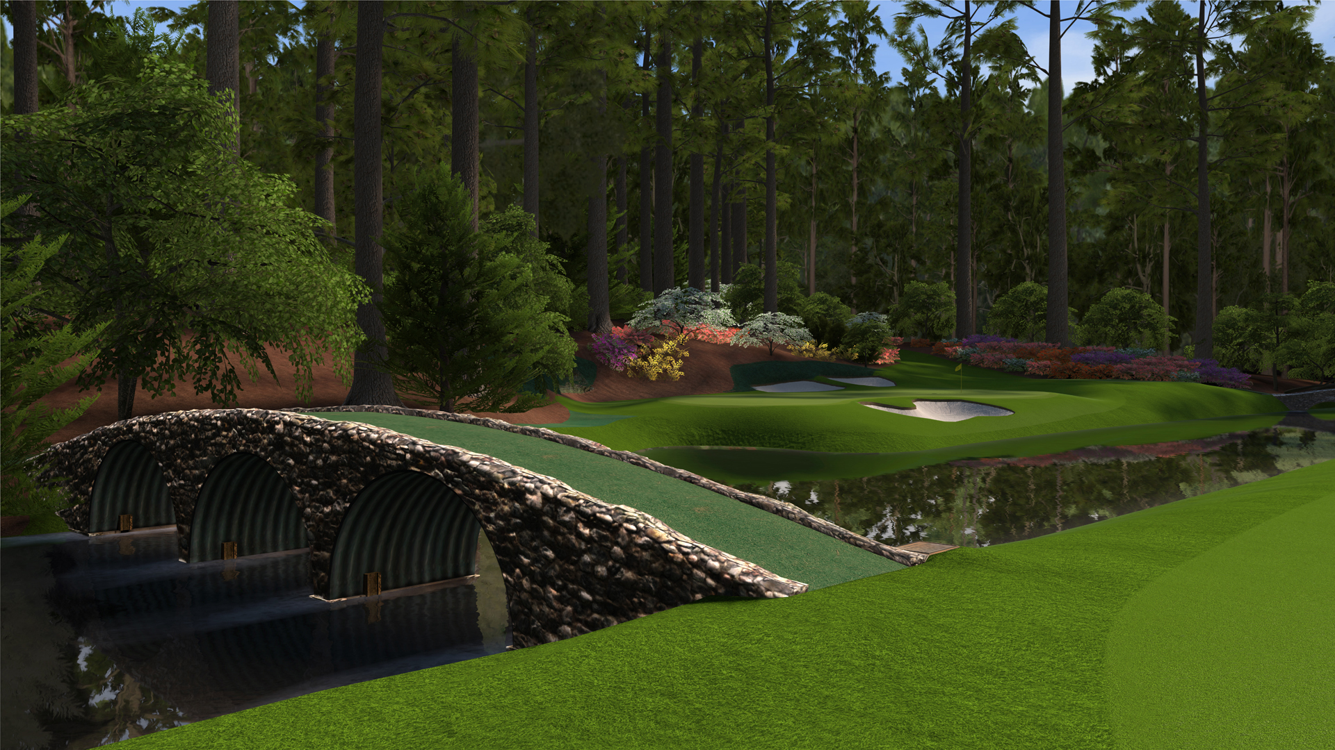 ... augusta hole 12 570x320 Review: Tiger Woods PGA Tour 12: The Masters