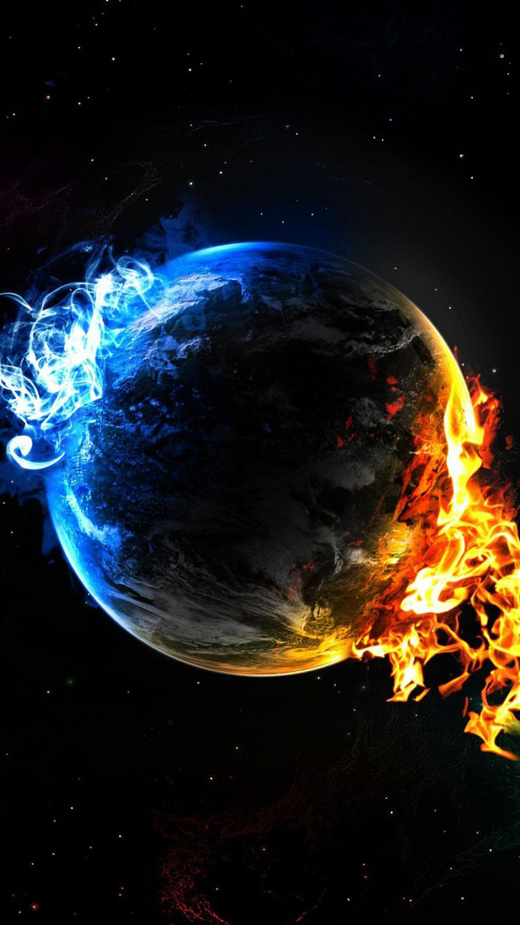 Fire Earth iPhone 6 Wallpapers HD iPhone 6 Wallpaper 750x1334