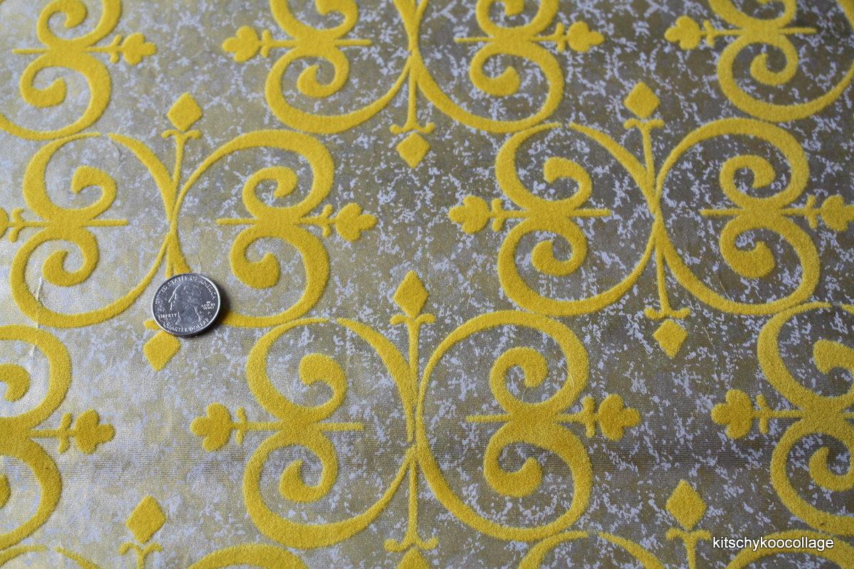 Blue And Yellow Wallpaper Non Woven Wallpaper Triangles: Metallic Flocked Wallpaper
