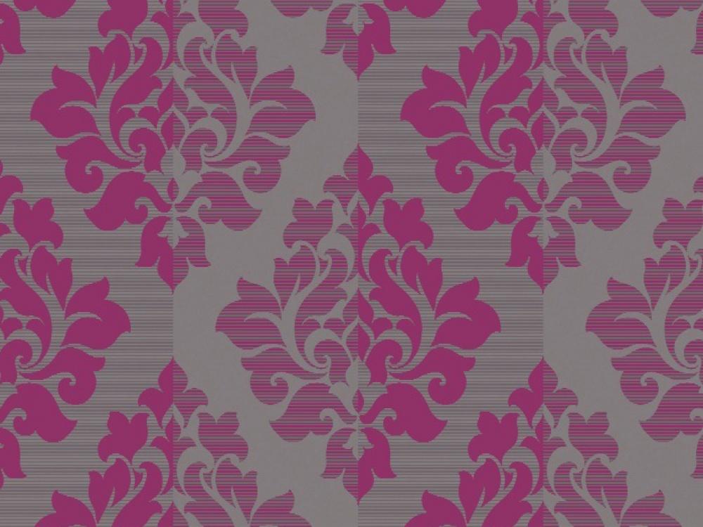 Arthouse Nightfall Flock Damask Pink Wallpaper   FREE Delivery 1000x750