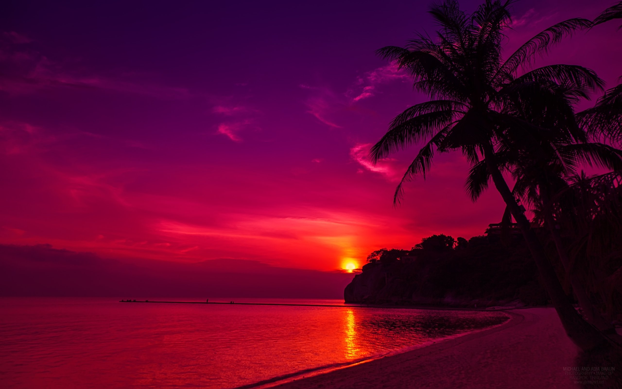 Thailand Beach Sunset Wallpapers HD Wallpapers 2560x1600
