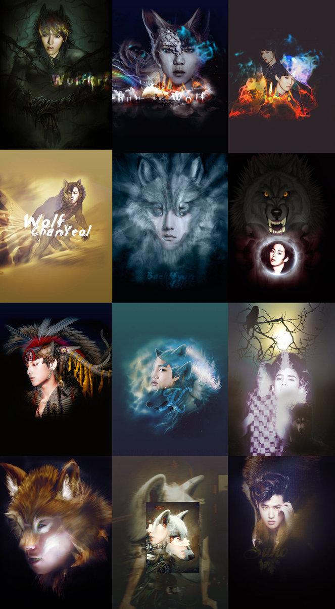 Exo Wolf Iphone Wallpaper Exo wolf wallp 663x1204