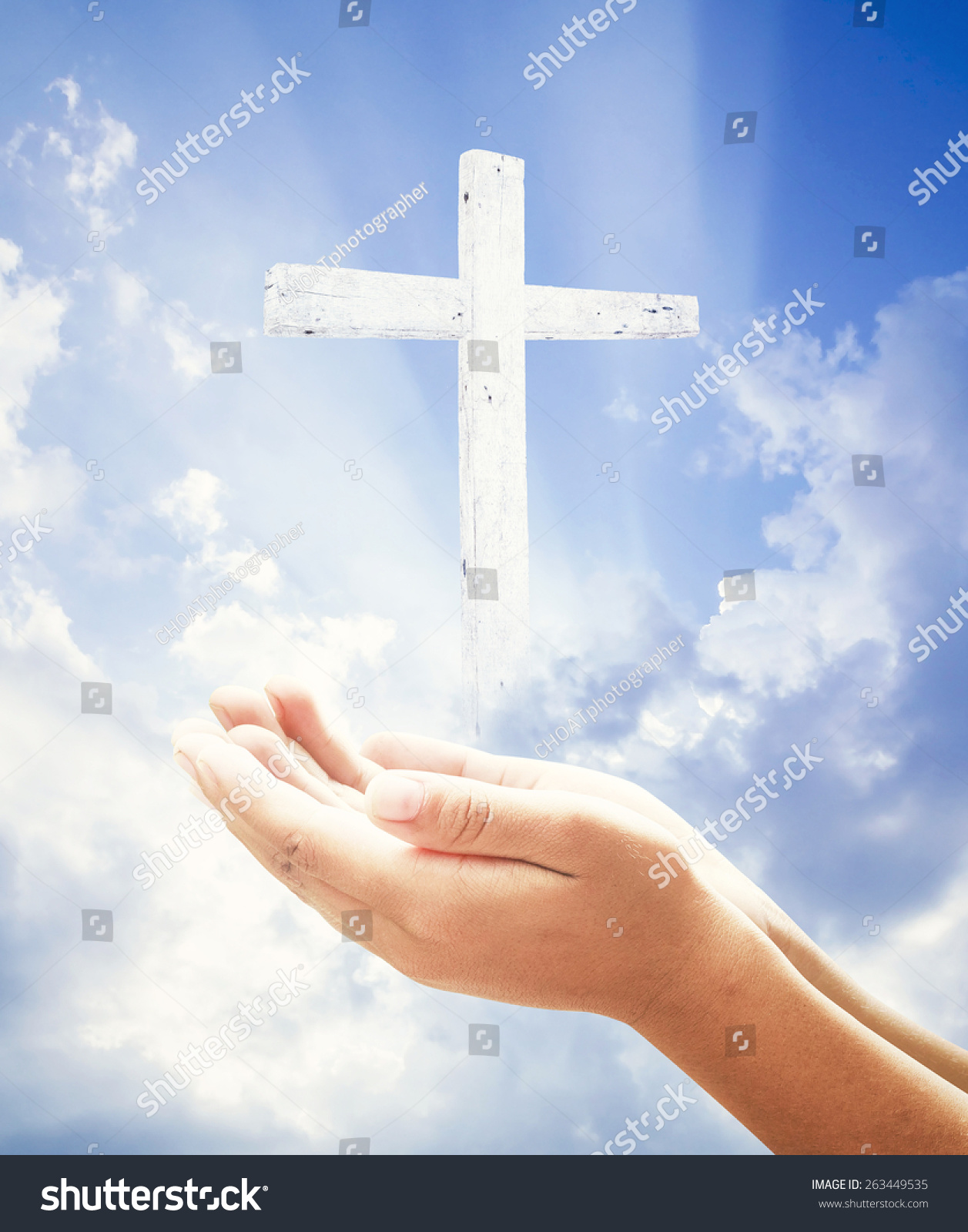 Ascension Day Concept Human Hands Praying Stock Photo Edit Now 1257x1600
