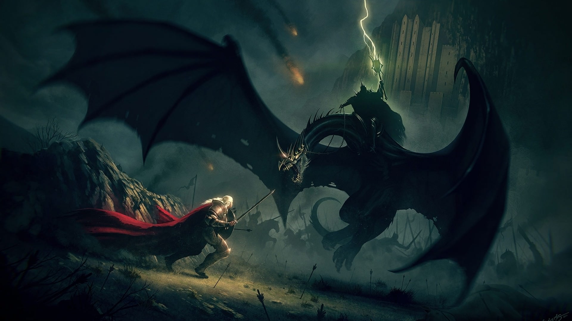 Eowyn Minas Tirith Lord of the Rings Wallpaper   DigitalArtio 1920x1080