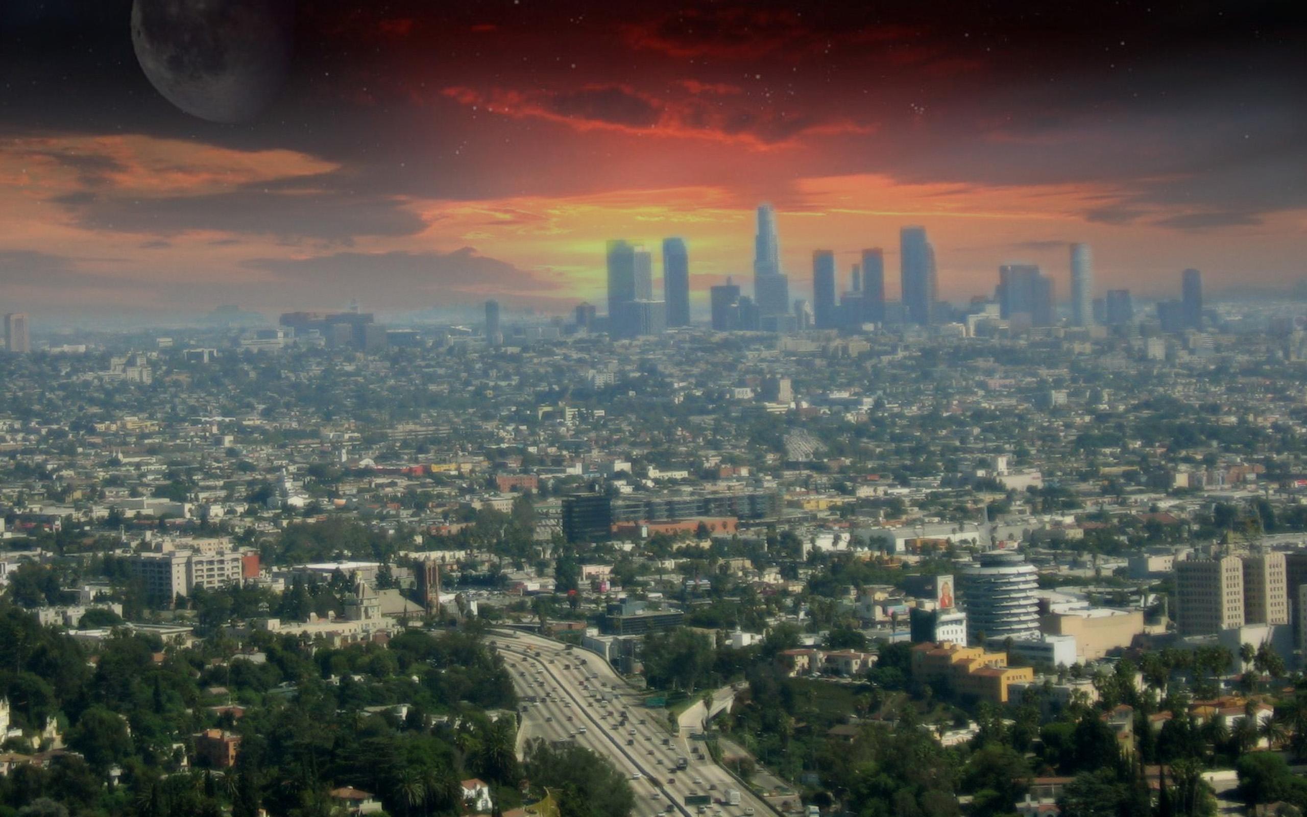Los Angeles City Wallpaper Wallpapersafari