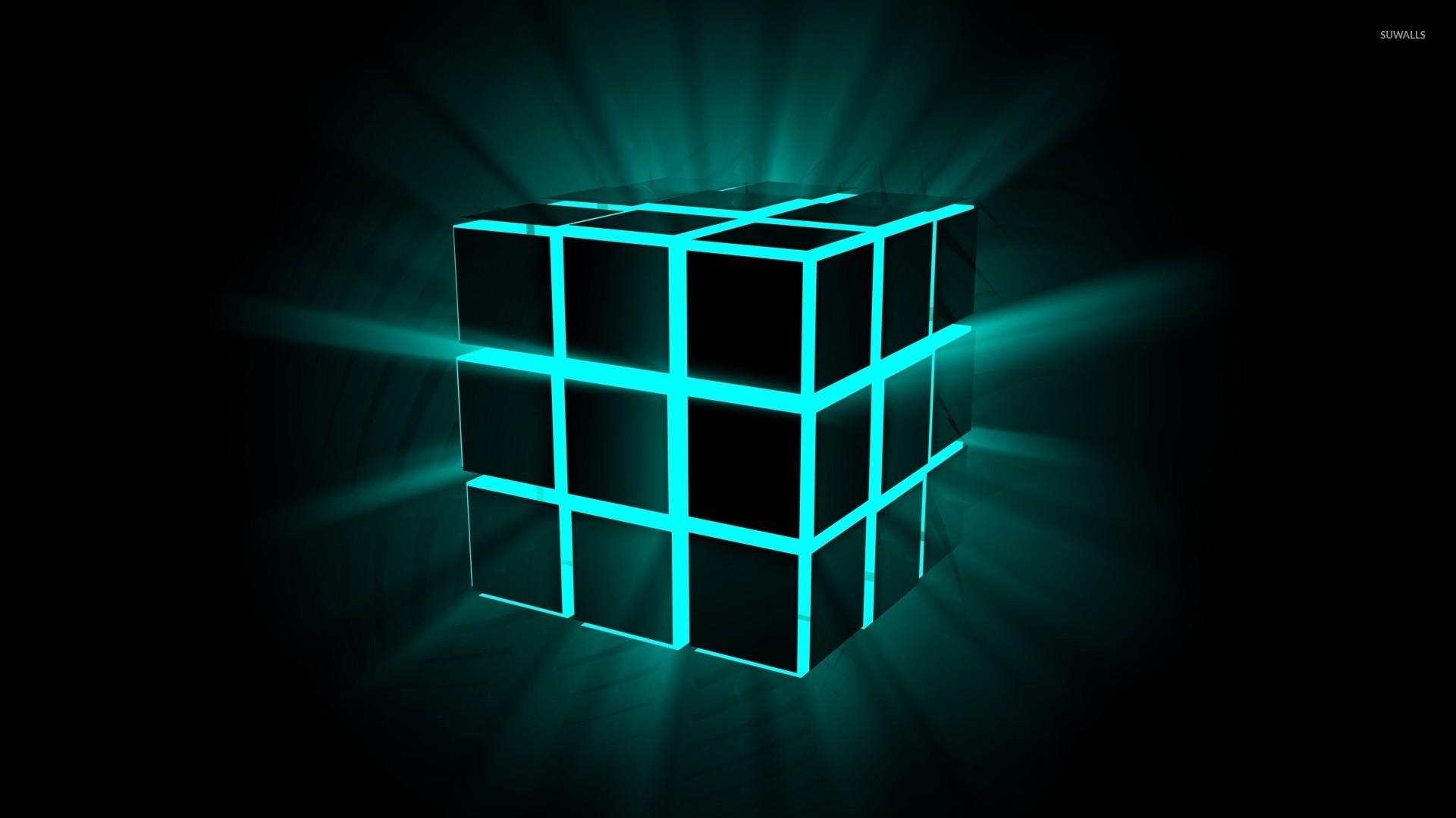 Neon cube wallpaper   3D wallpapers   23099 1920x1080
