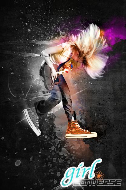 Design   Girl Converse Designer   Photoshop cool backgrounds   GIRL 416x624