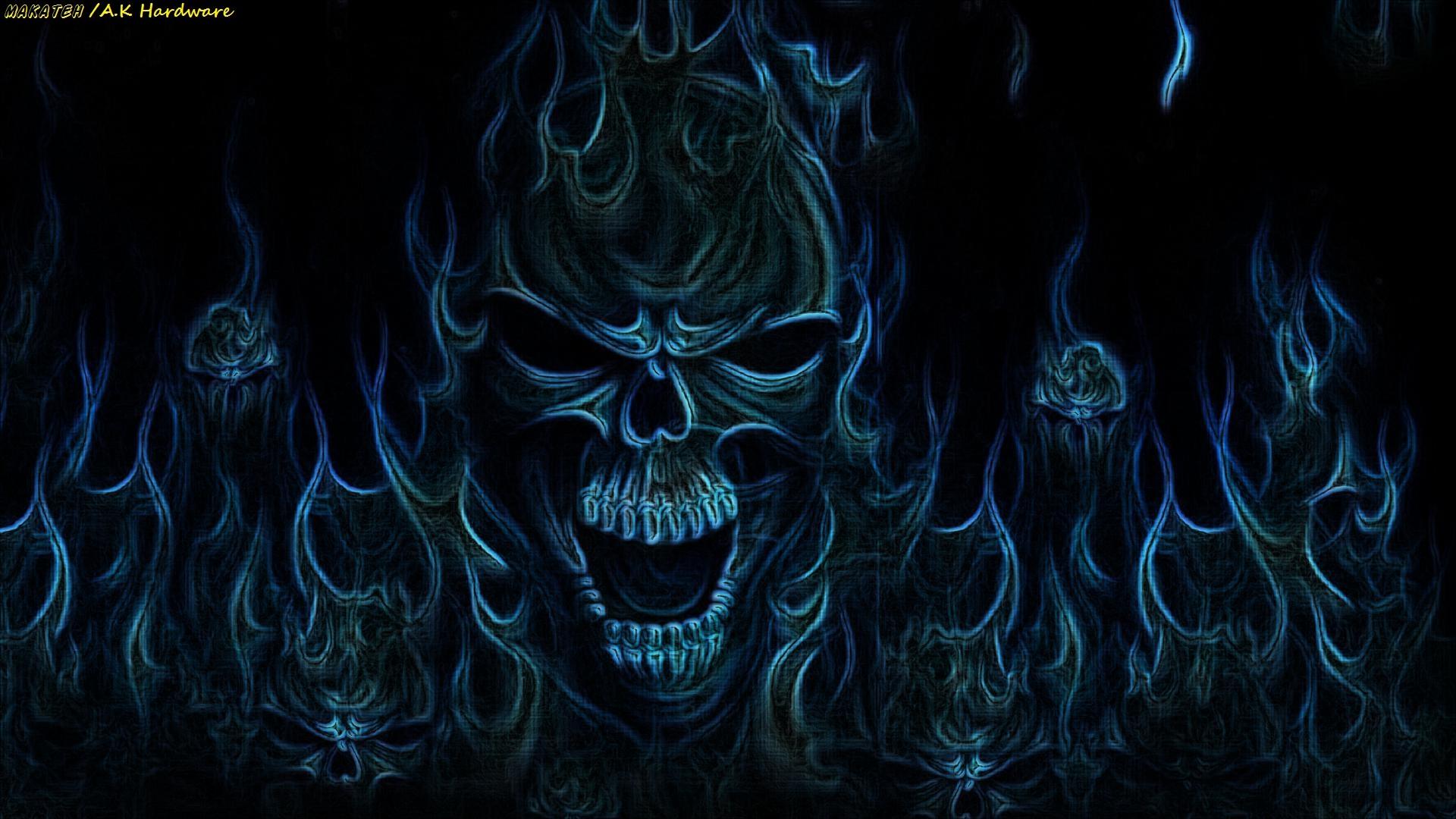 Incredible Neon Skull Wallpaper: 1920X1080 Skull Wallpaper