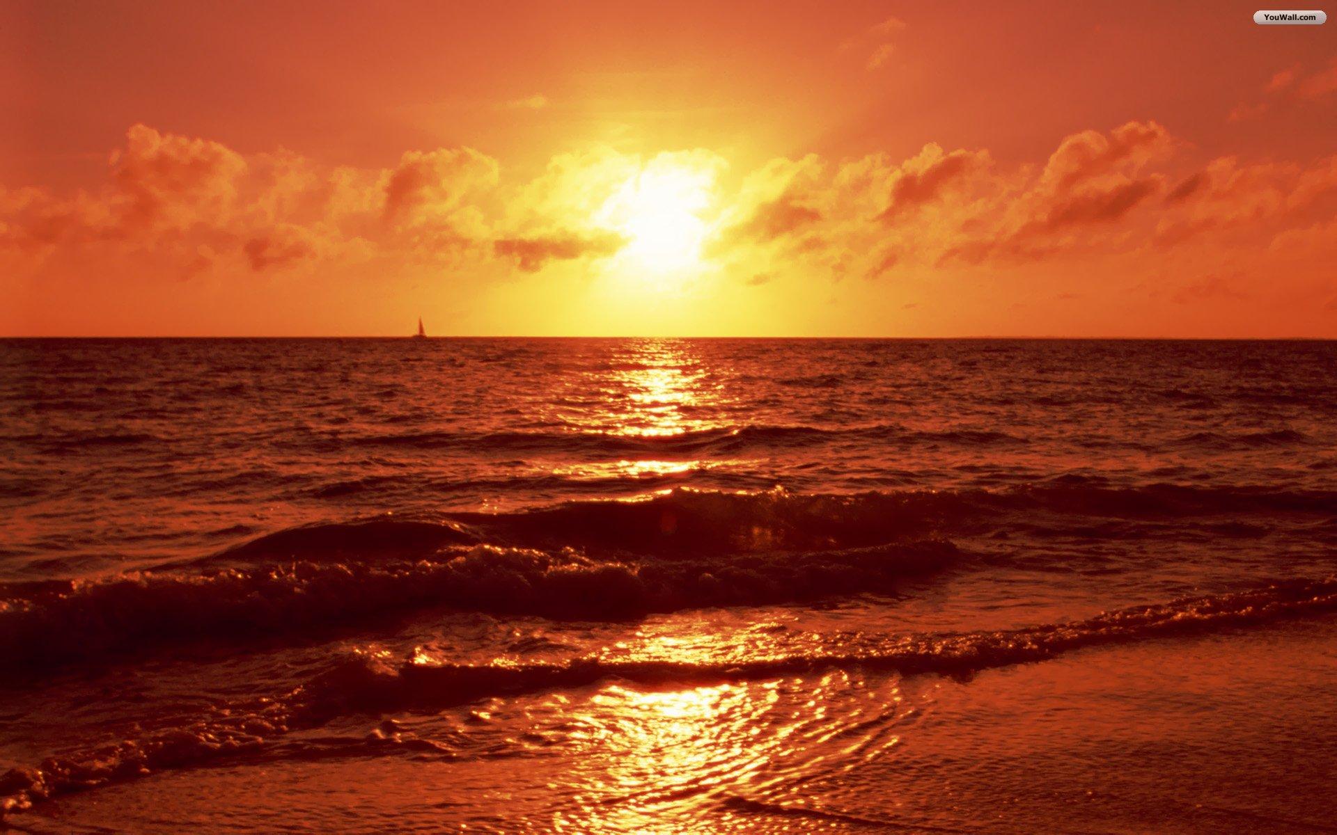 Beach Sunset Wallpaper Image Picture 2339 Wallpaper 1920x1200