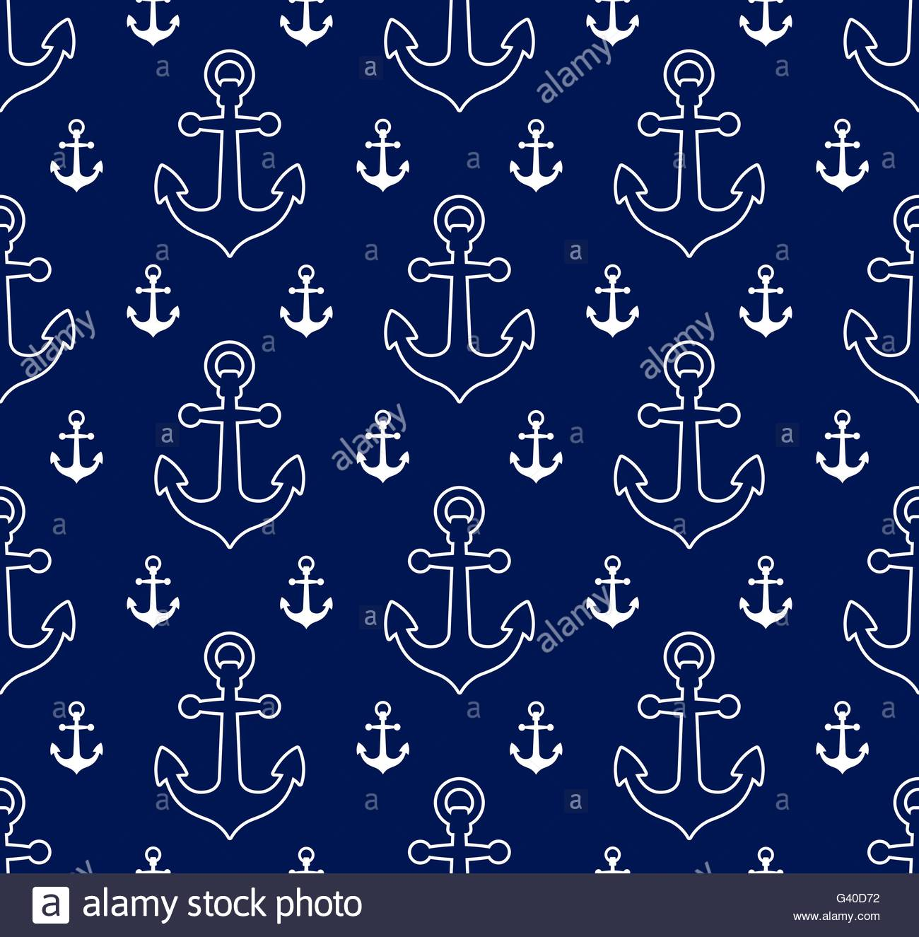 Vector image of seamless pattern anchors over blue background 1300x1325