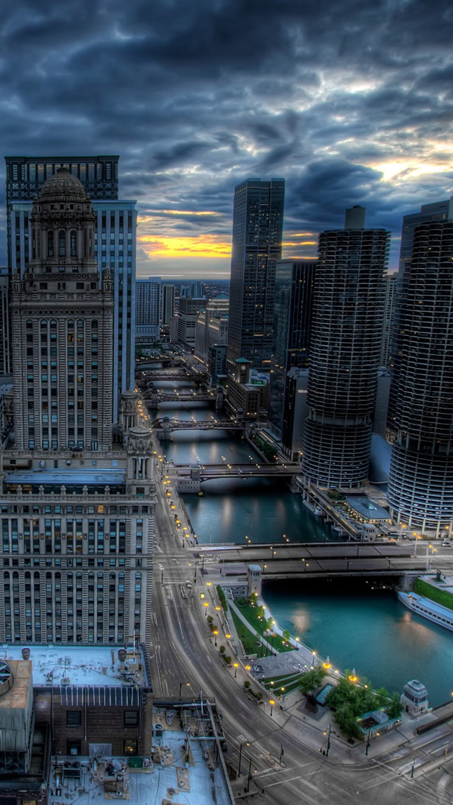 Chicago City Illinois   The iPhone Wallpapers 640x1136