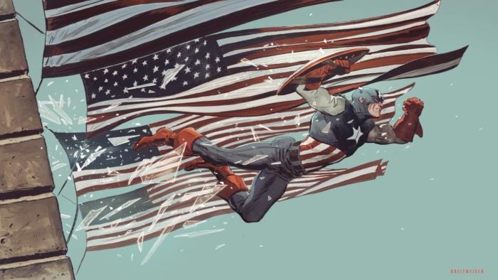 Captain America breaking windows Wallpaper Comic Books Captain America 700x394