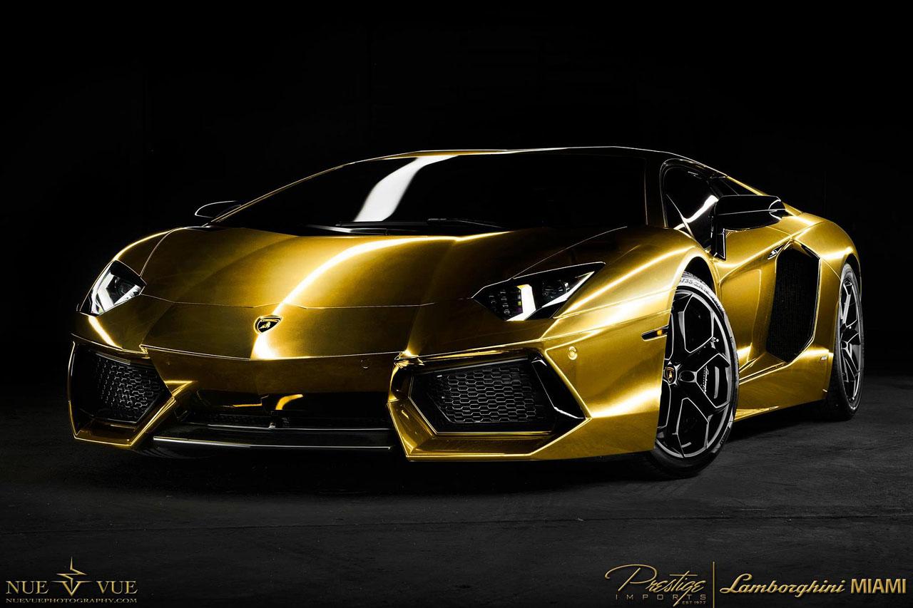 Free Download Gold Lamborghini Aventador Wallpaper 1280x853