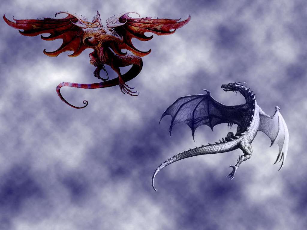 Fire and Ice Dragons   Fire and Ice Dragons Wallpaper 16701610 1024x768