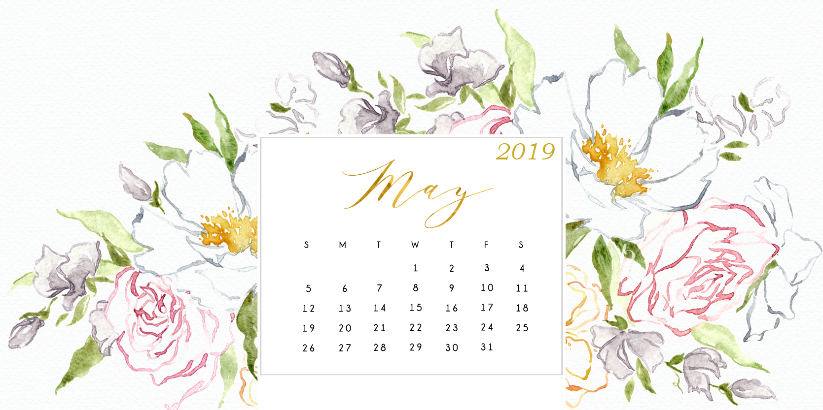 Cute May 2019 Desktop Calendar Wallpaper may may2019calendar 1669x833