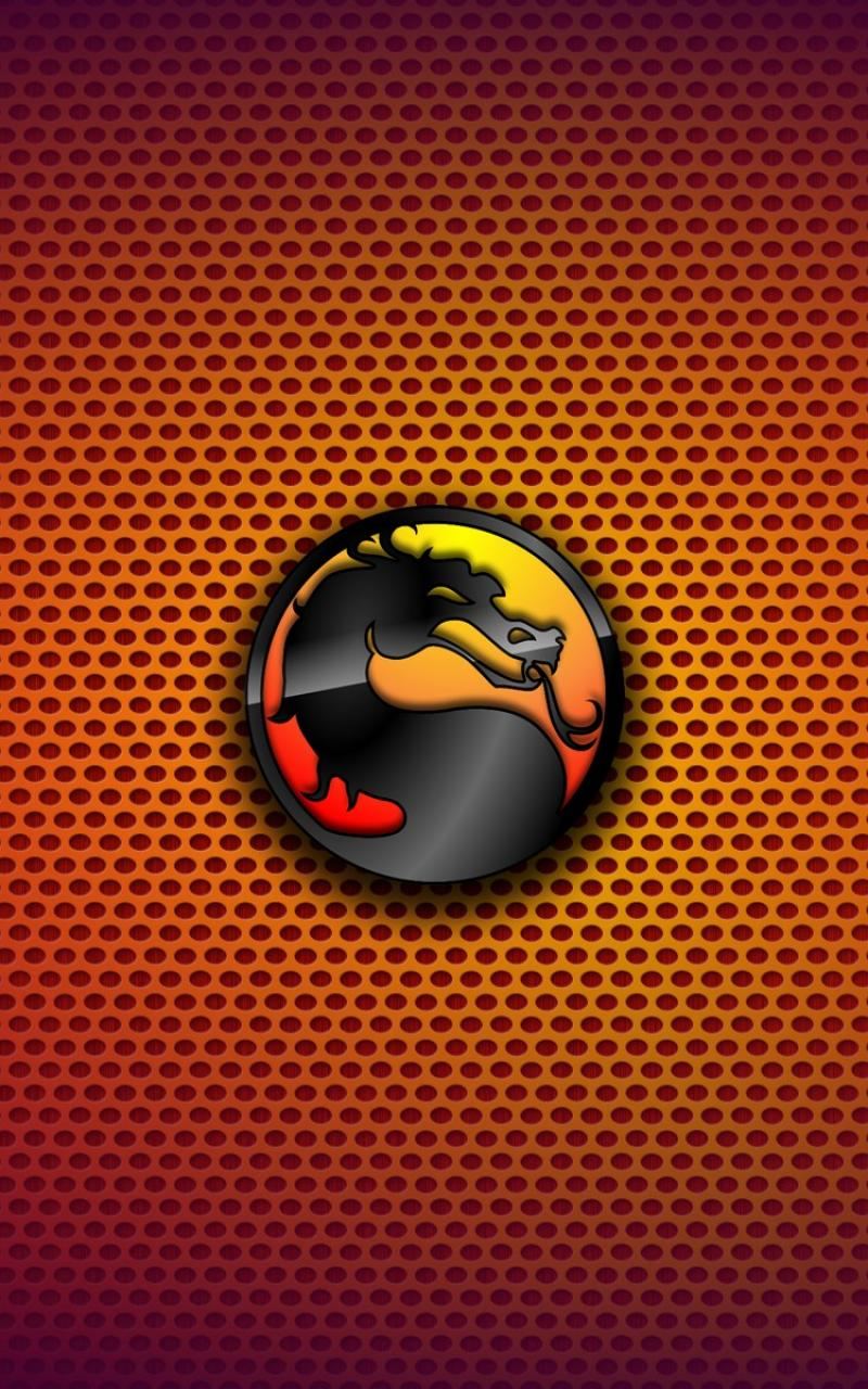 Mortal kombat logos logo symbols gradient background wallpaper 800x1280