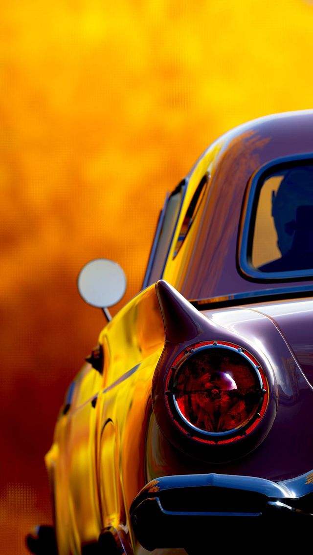 Classic Retro Car Tail Lights IPhone 5 Wallpaper IPod Wallpaper HD 640x1136
