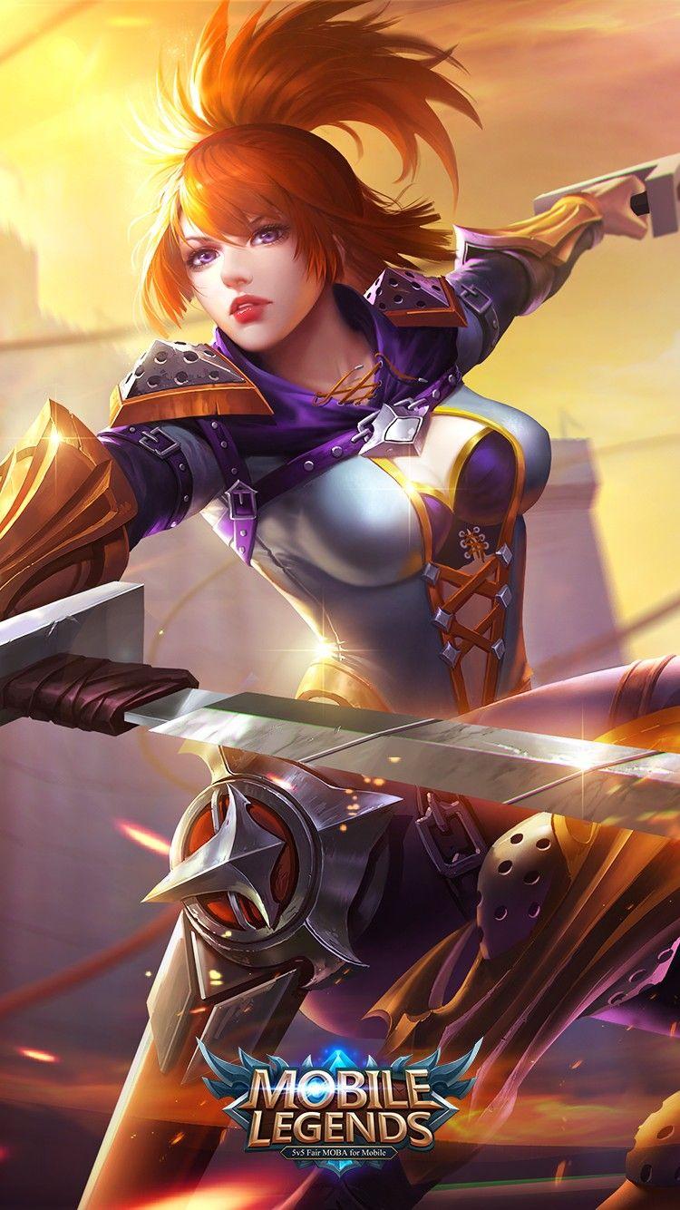 Fanny hovering blade Mobile Legends Mobile legend wallpaper 750x1334