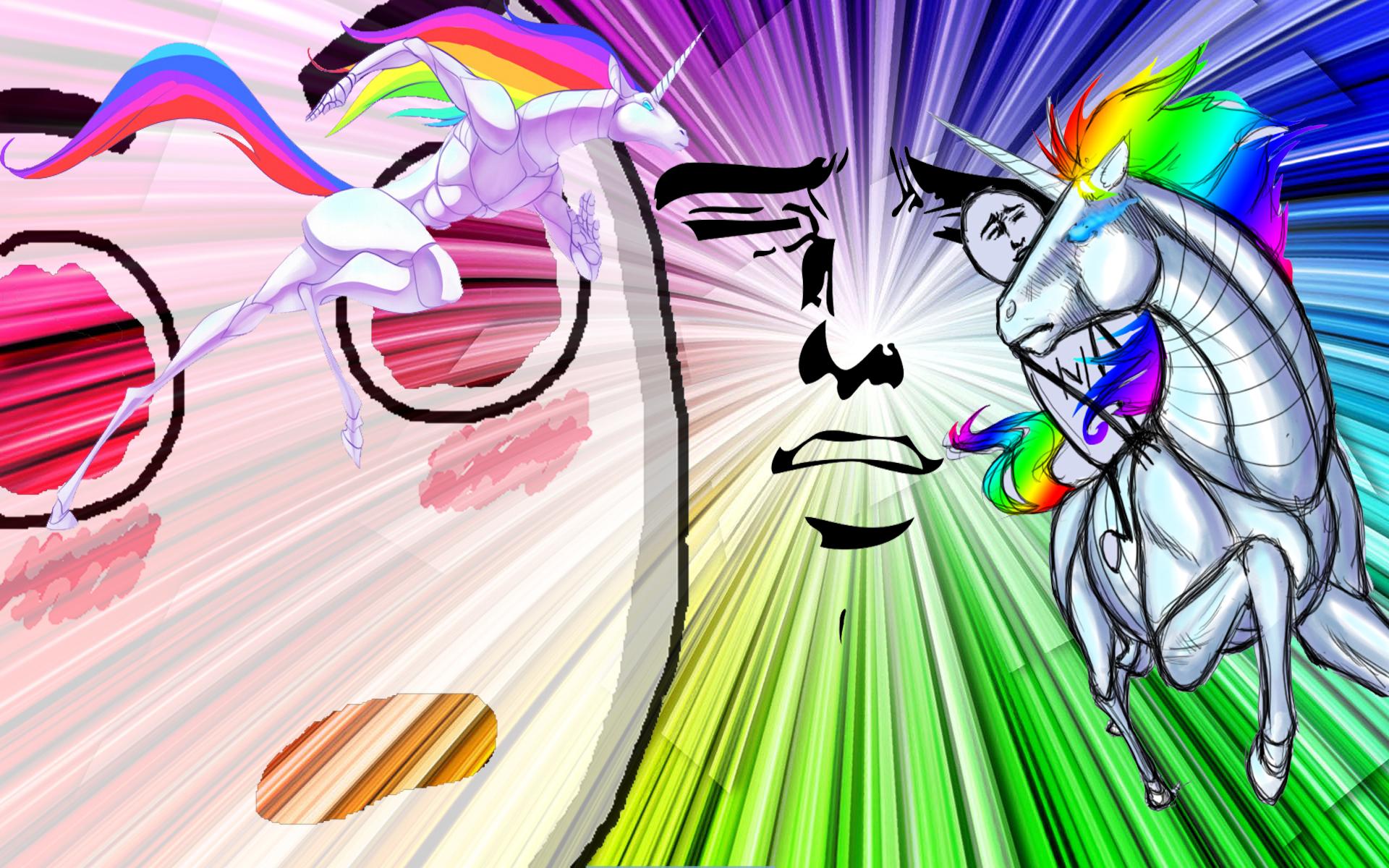 Robot Unicorn Wallpaper 1920x1200 Robot Unicorn Attack Rainbows 1920x1200