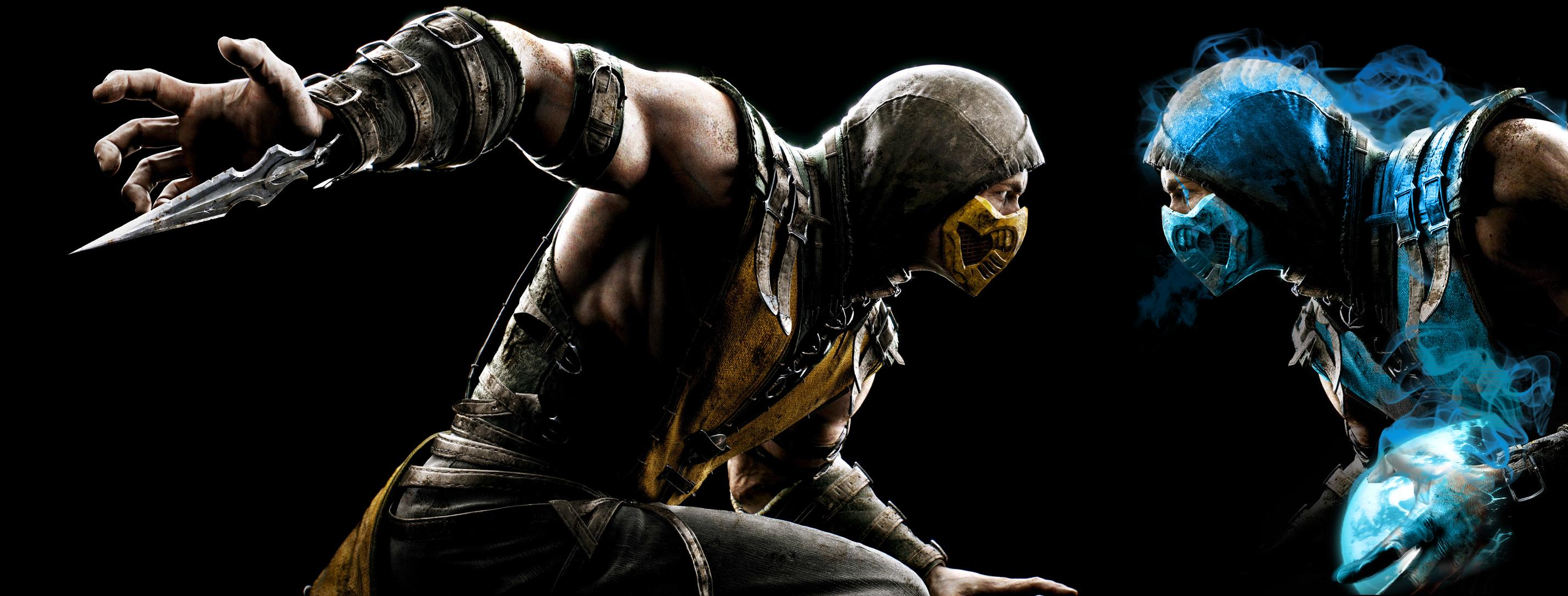 Mortal Kombat X   Scorpion vs Sub Zero by mkfan786 2854x1085