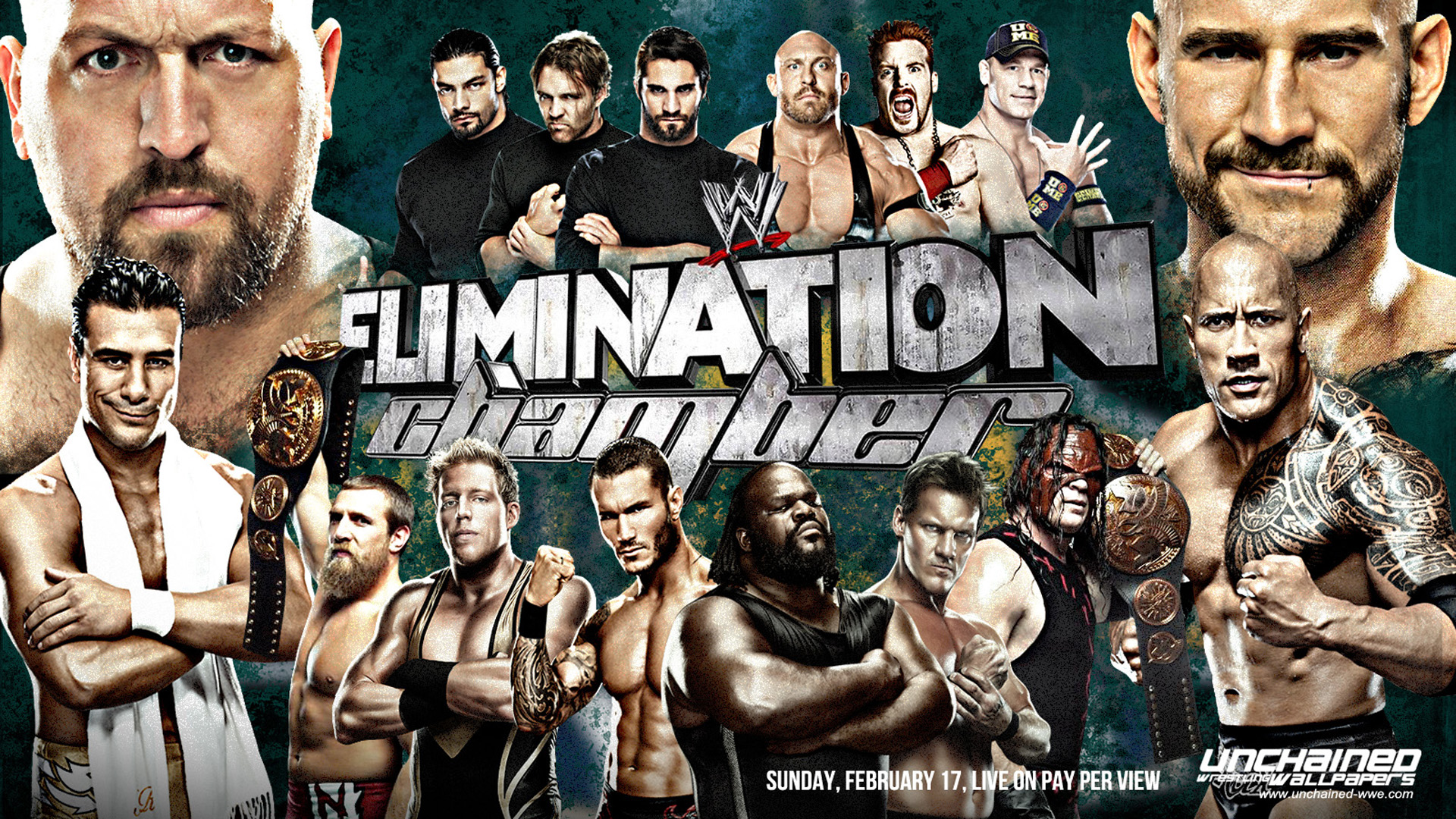 WWE Elimination Chamber 2013 Wallpaper 1920x1080