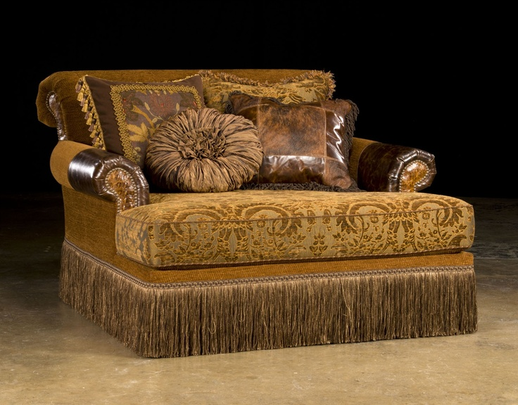 Elegant style Chaise leather and fabric 736x576