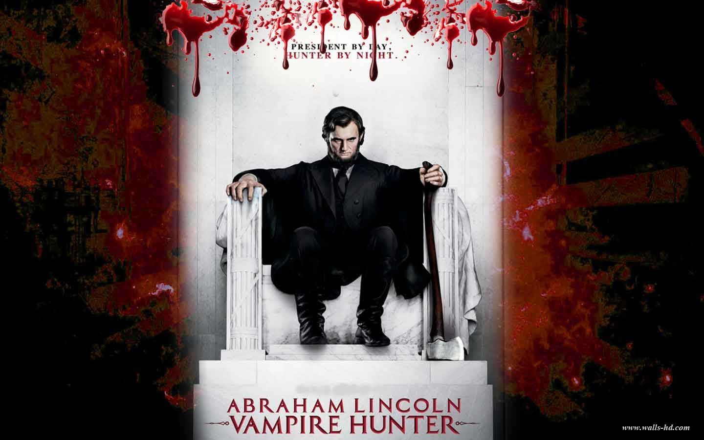 wallpaper abraham lincoln tersebut abraham lincoln vampire hunter 1440x900