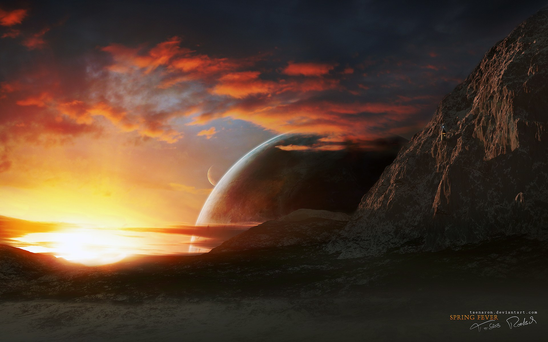Hd Digital Art Of Universe And Planets 16801050 No18 Wallpaper HD 1920x1200