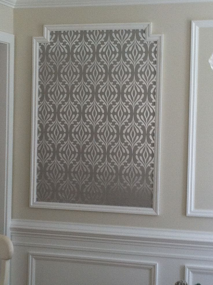 Wallpaper framed with molding For the Home Pinterest 736x985