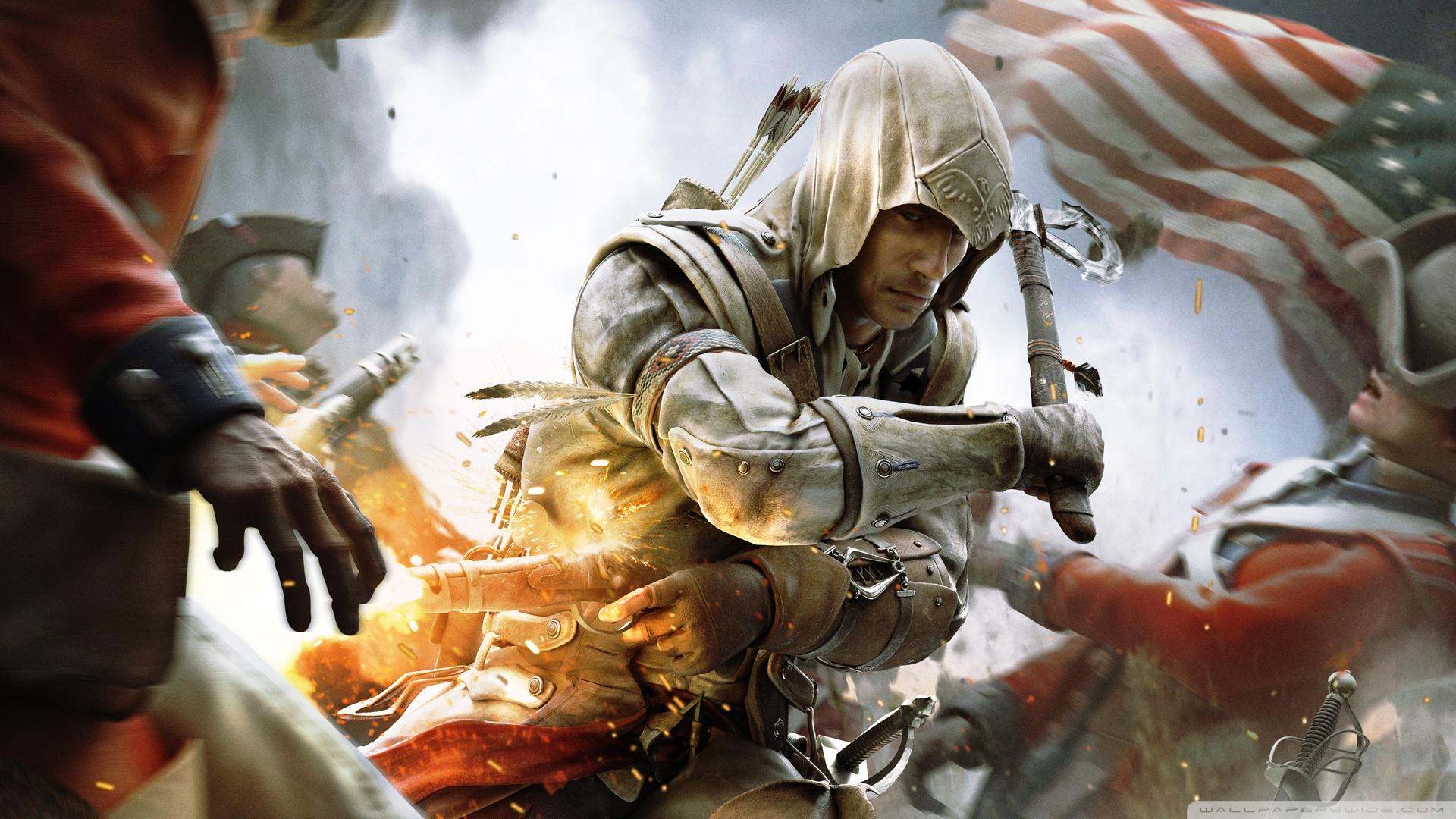assassins creed iii war wallpaper 1920x1080   assassins creed iii war 1920x1080